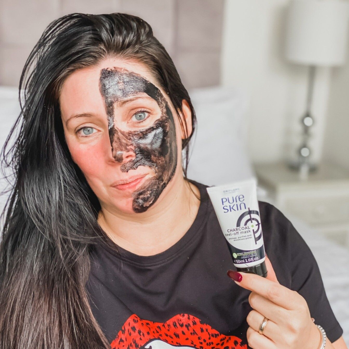 Easy Pealy Fed Up Buying Charcoal Masks That Take Half Of Your Face Off Lol Try This One It Literally Oriflame Beauty Products Pure Products Charcoal Mask