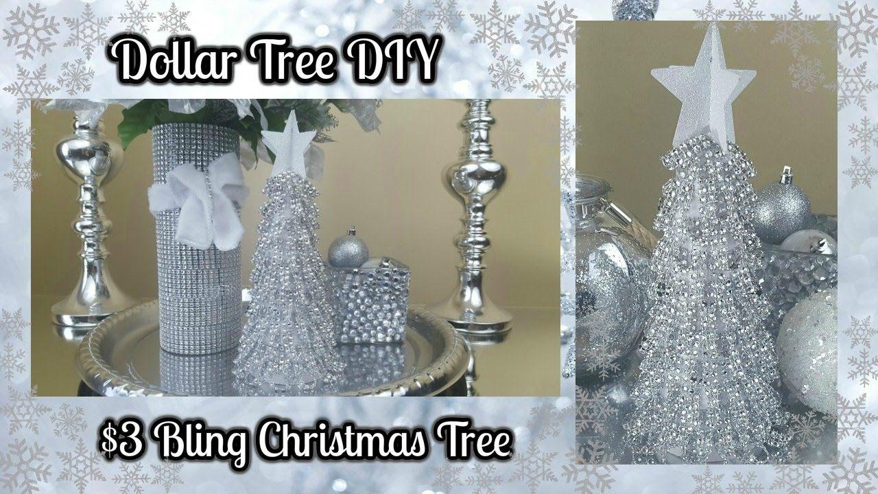 DOLLAR TREE DIY BLINGY CHRISTMAS TREE 3 EASY HOME DECOR