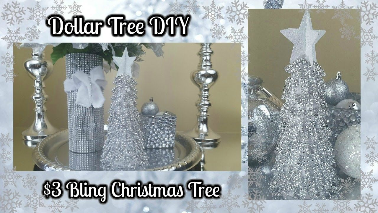 dollar tree diy blingy christmas tree 3 easy home decor craft video diy dollar tree. Black Bedroom Furniture Sets. Home Design Ideas