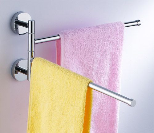Double Swivel Arm Adjule Towel Rack Chrome Model No 5092 Add More Storage To Your Bath With The Sanliv Swing Bar