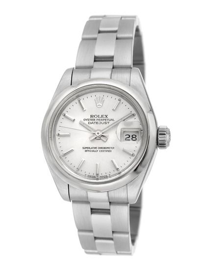 ac963dc426e Estate Watches Women s Rolex Date Just Stainless Steel Watch