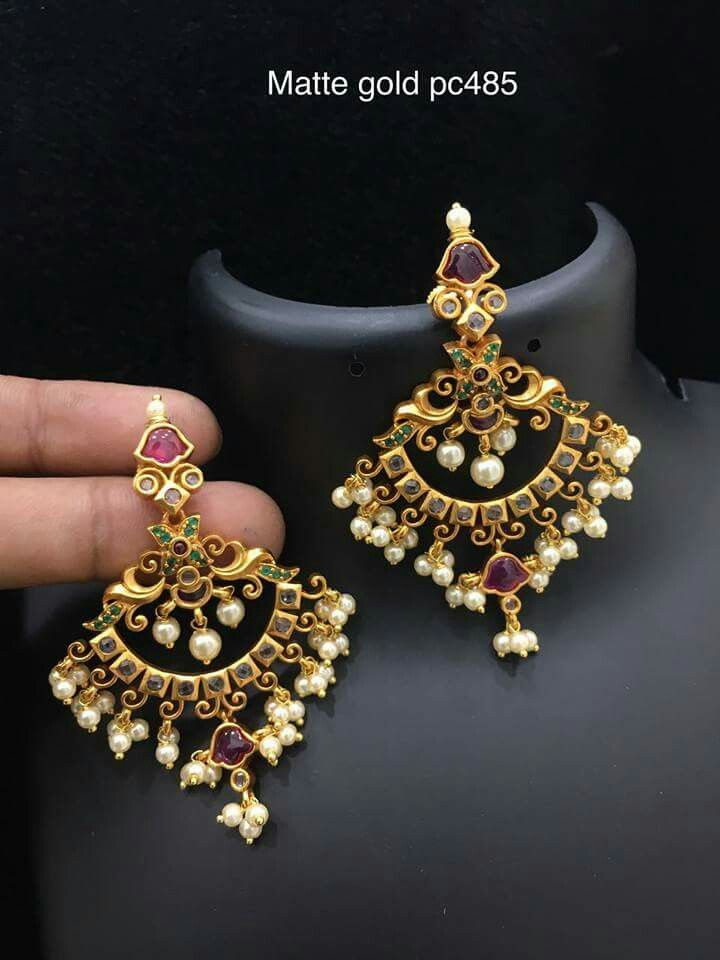 Pin by Sowmya Kanuri on Gold | Pinterest | Ear rings, India ...
