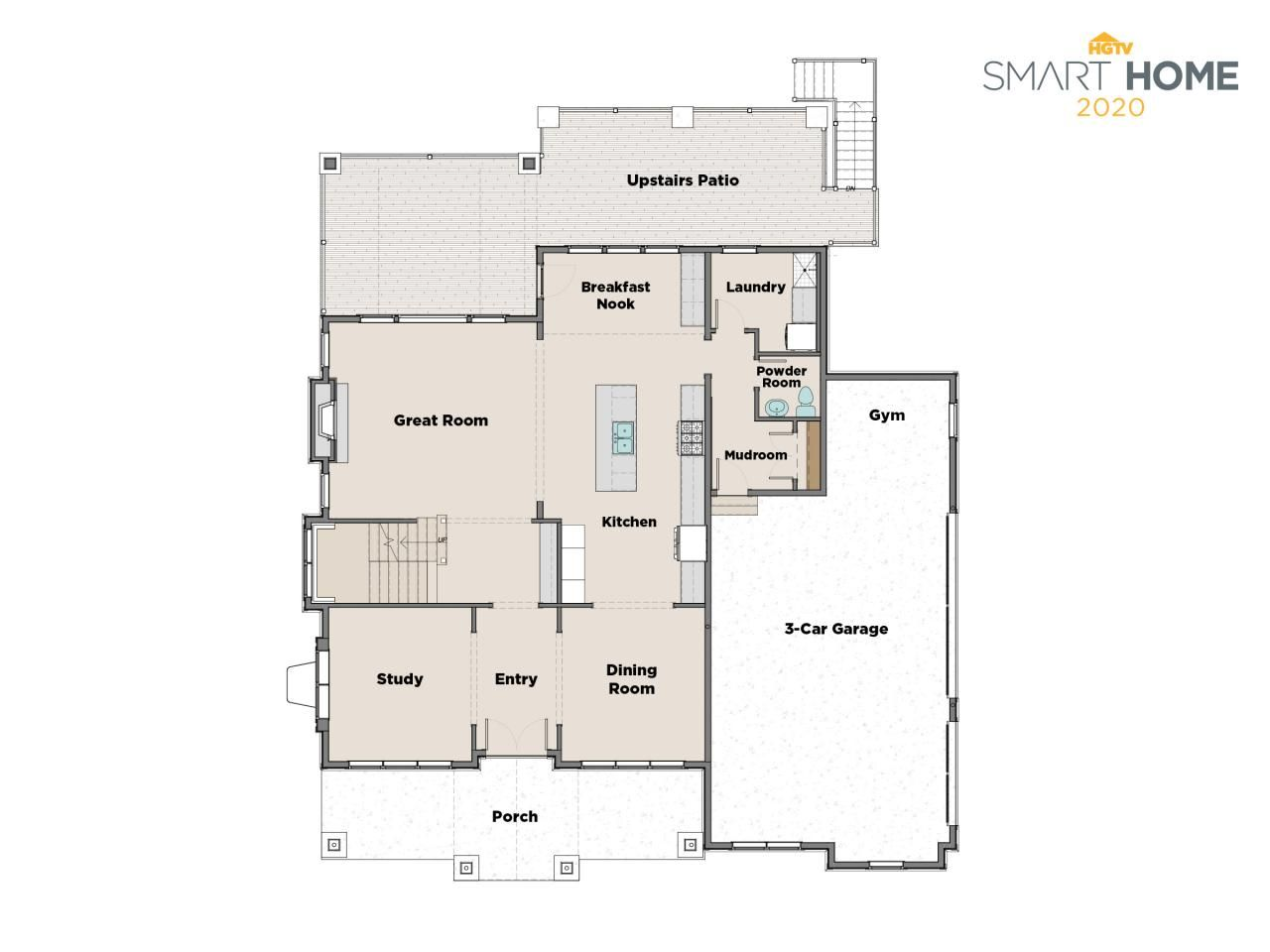 Discover The Floor Plan For Hgtv Smart Home 2020 Hgtv Dream Homes Floor Plans House Floor Plans