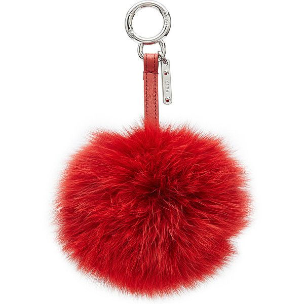 Fendi Pompom bag charm - Red 18juGrMw