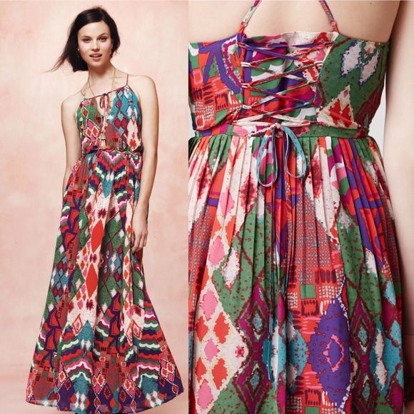 87011623968ce I just discovered this while shopping on Poshmark: Anthro Maeve Tarana maxi  dress size 4. Check it out! Size: 4