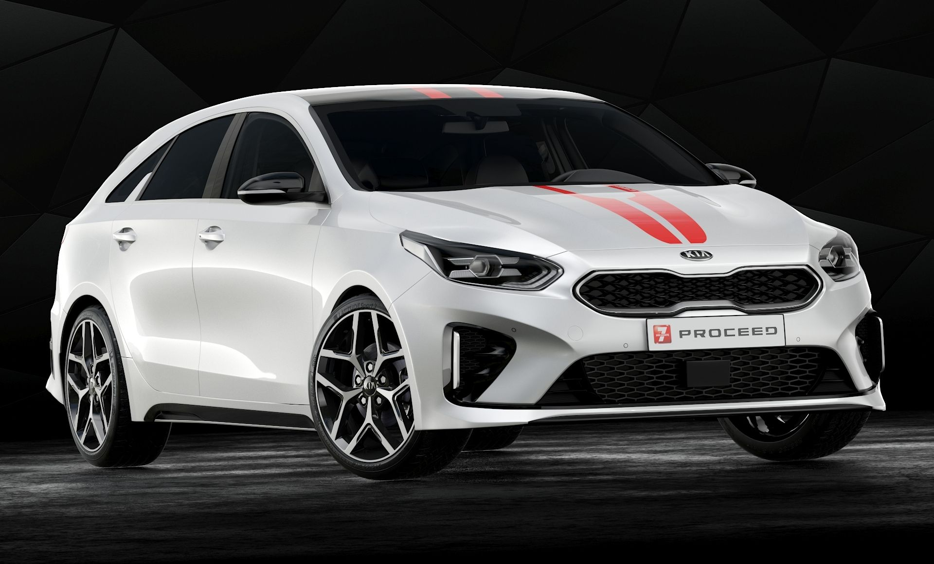 High Detailed 3d Model Of 2019 Kia Proceed Gt With Interior In 2020 Model Vehicles