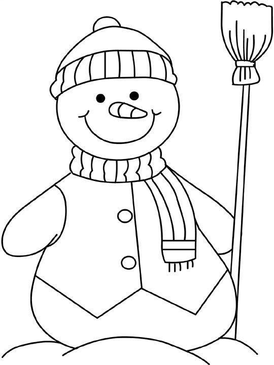 snowman coloring pages snowman 2 - Snowman Color Pages 2