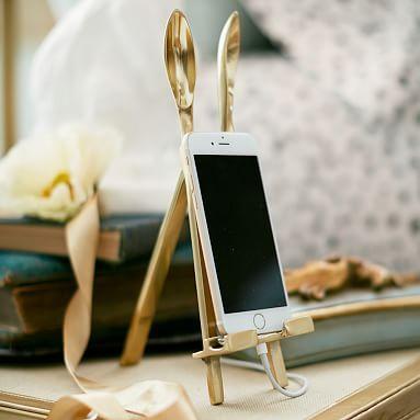 The Emily & Meritt Bunny Ear Easel Phone + Tablet Holders