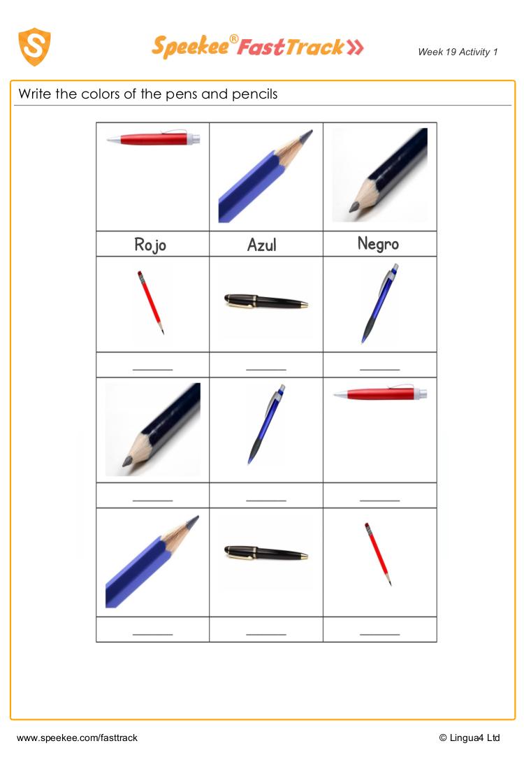 Colors In Spanish Worksheet Spanish Worksheets Spanish Printables Worksheets For Kids [ 1100 x 750 Pixel ]