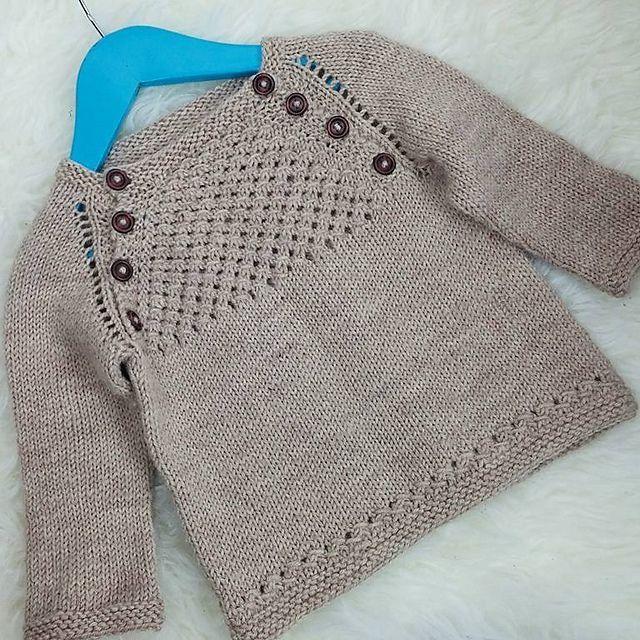 Blær - a baby sweater / barnapeysa pattern by Dagbjört Örvarsdóttir ...