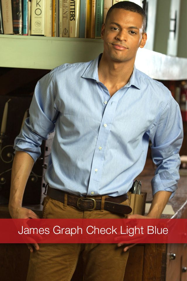 J Wingfield: James Graph Check Light Blue  We made this handsome graph check in 2 color choices. Light Blue & Lilac.