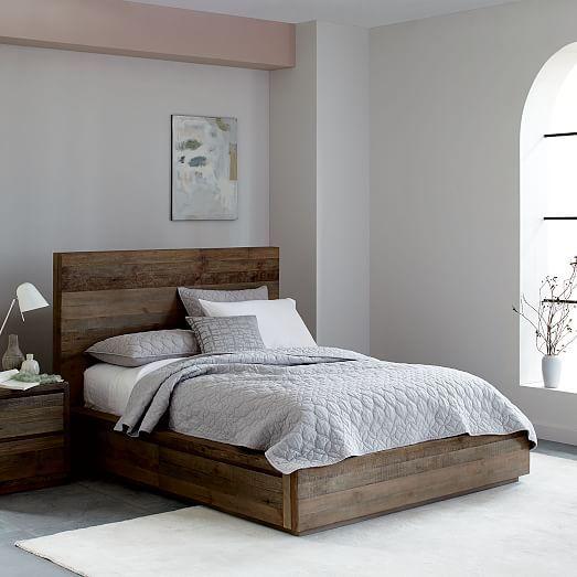 Sander Storage Bed West Elm Contemporary Bedroom Furniture