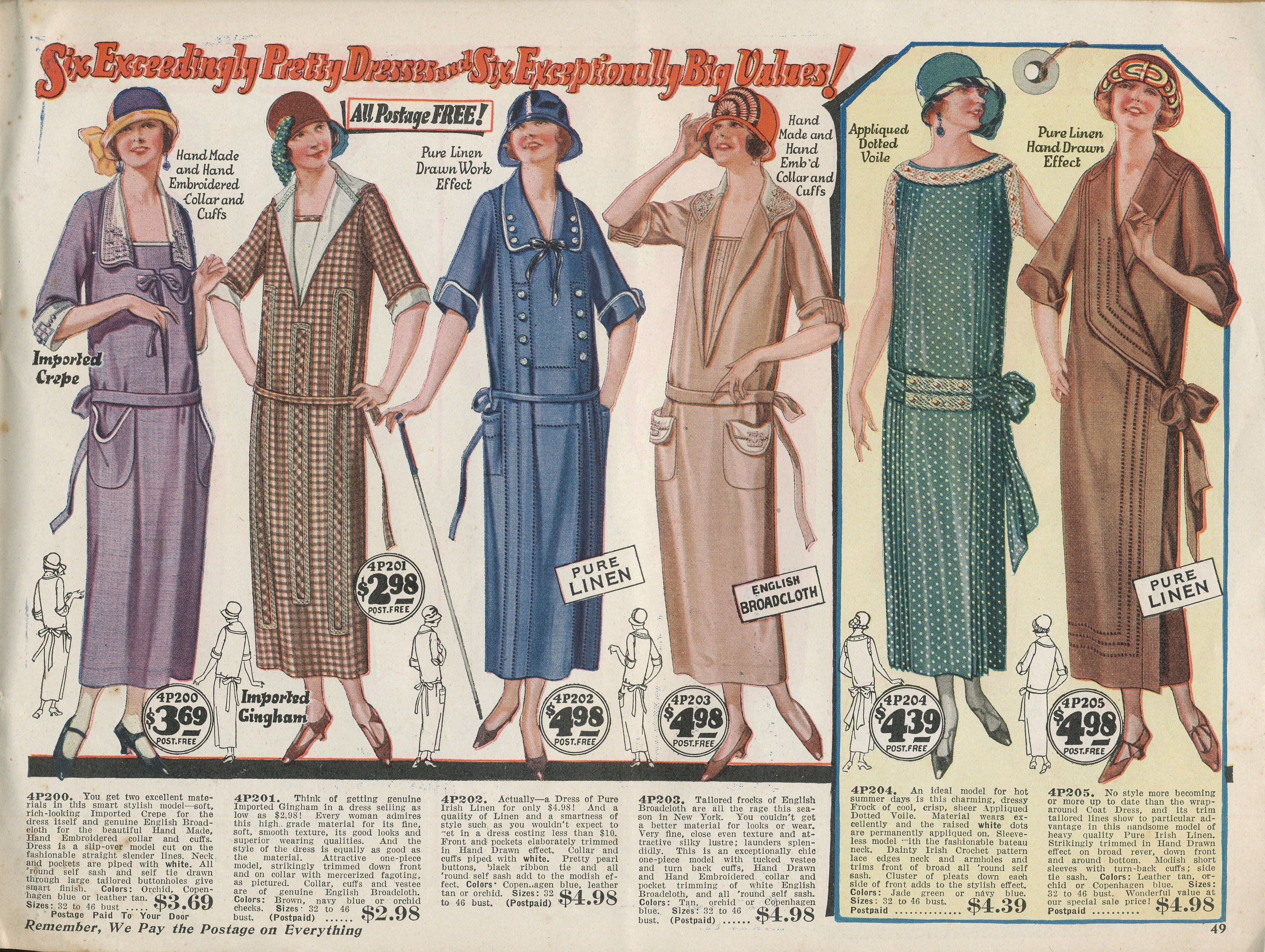 1920s day house dresses and aprons dress casual 1920s