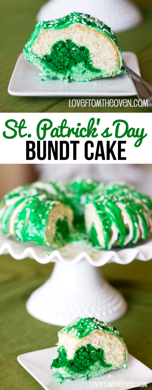 St. Patrick's Day Bundt Cake | Celebrate the great day with the help of your local cooperative: http://www.centralengland.coop