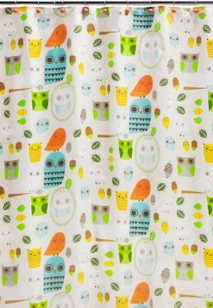 Creative Bath Products Inc S1070mult Give A Hoot Shower Curtain