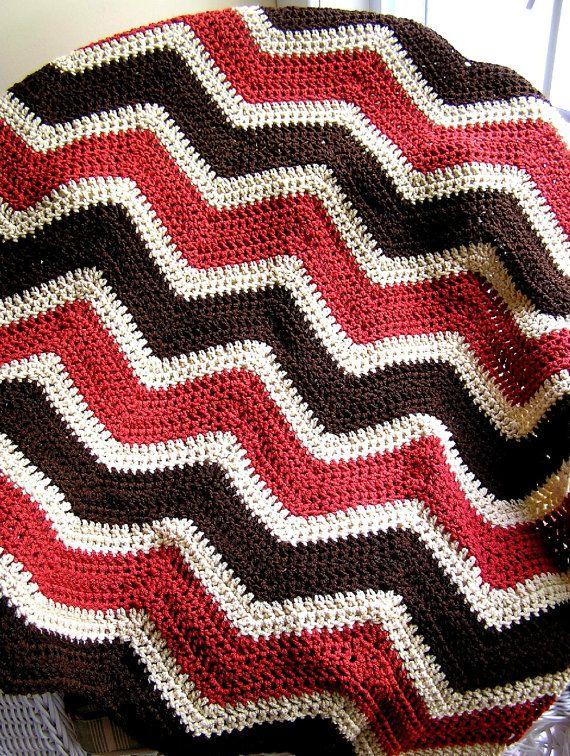 baby blanket afghan wrap chevron zig zag crochet knit lap robe ...