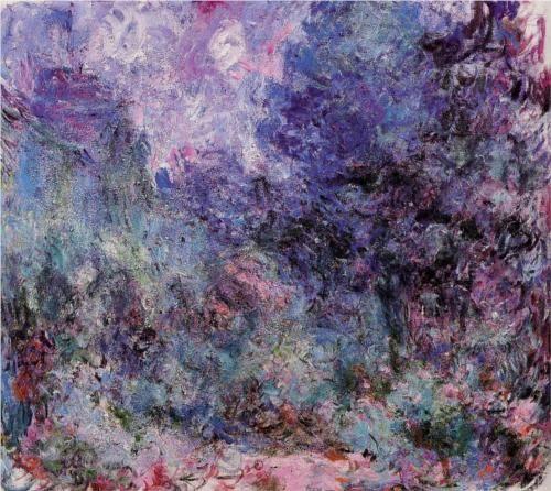 art-hearts: The House Seen from the Rose Garden 3 - Claude Monet