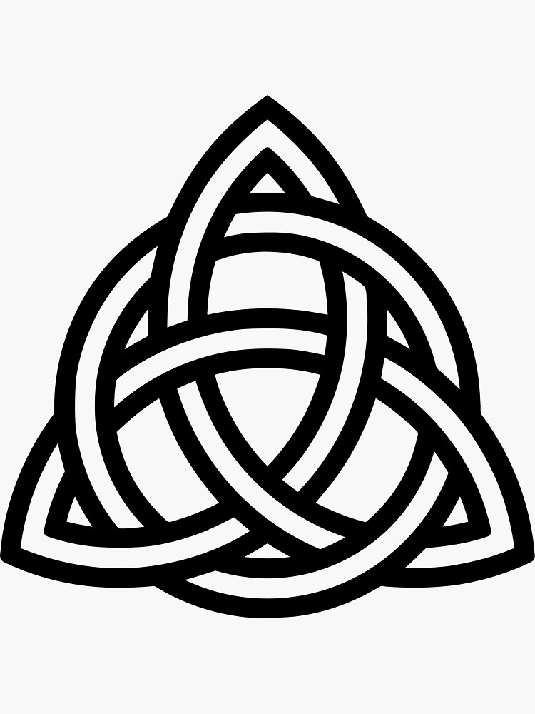 Celtic Knot Sticker By Designzz In 2021 Small Celtic Tattoos Wiccan Tattoos Celtic Knot Designs