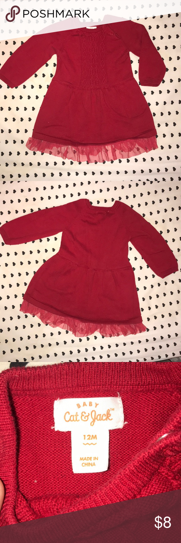 12 Month Red Baby Girl Sweater Dress Adorable Red Sweater Dress From Cat Jack Maybe Worn One Or Two Ti Baby Girl Sweaters Girls Sweaters Girls Sweater Dress [ 1740 x 580 Pixel ]