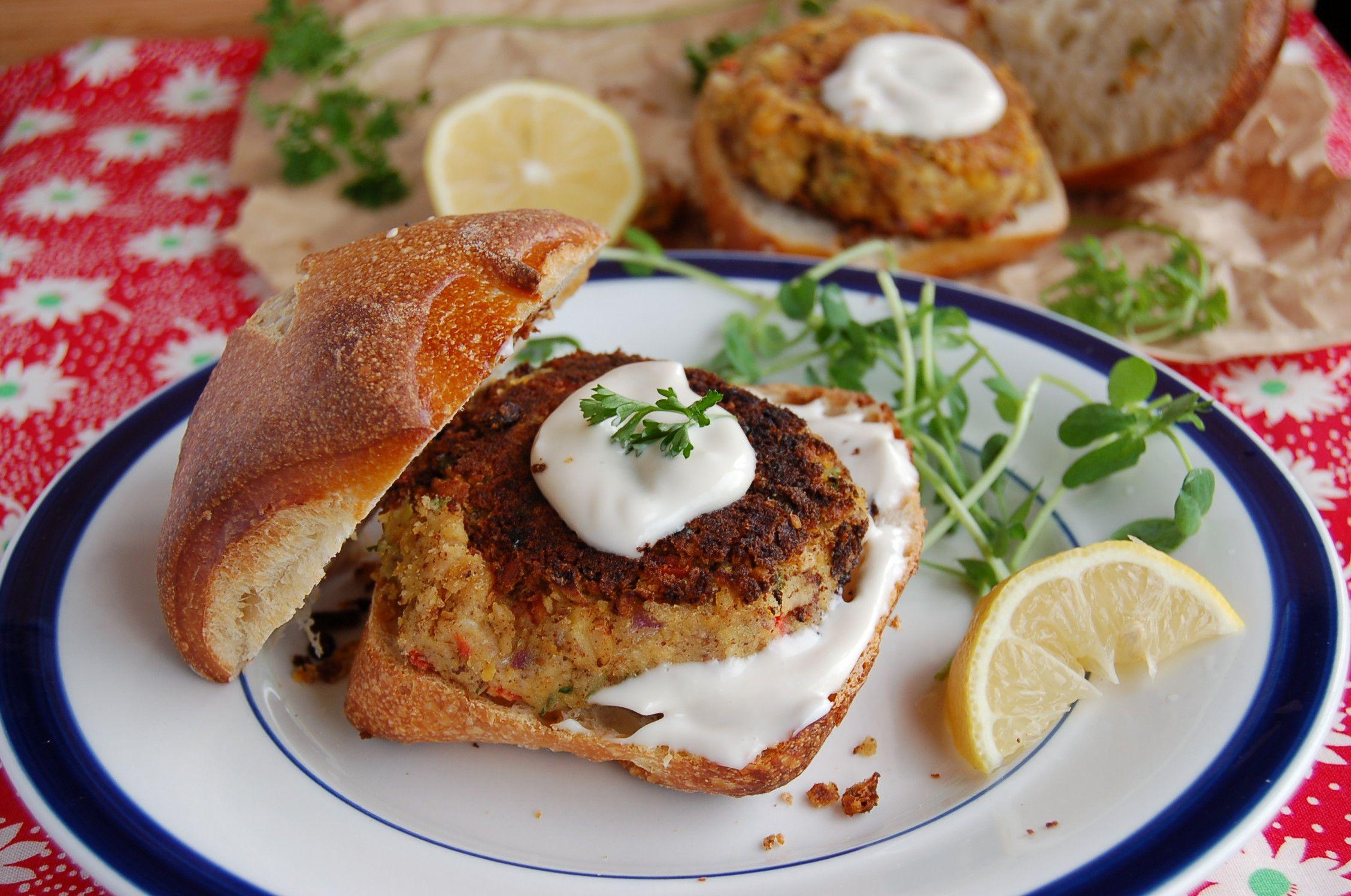 Veggie grill crab cake recipe