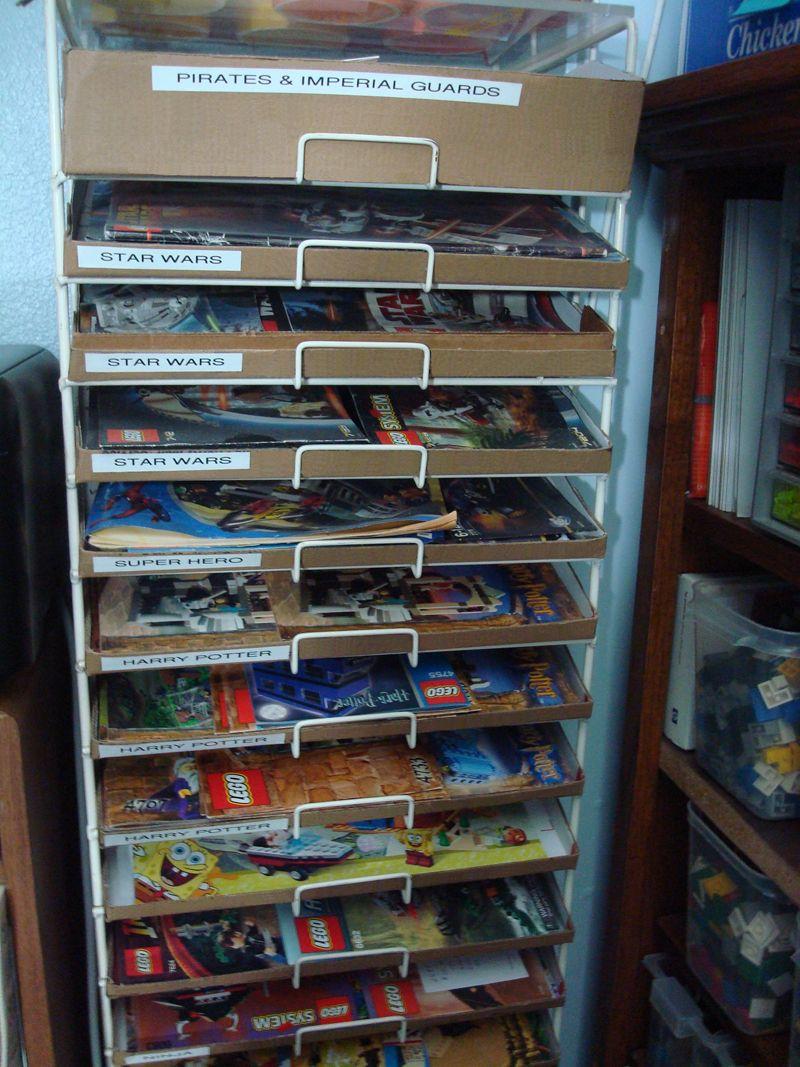 Scrapbook paper rack - Lego Instructions Storage In Scrapbook Paper Rack