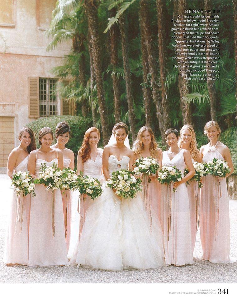 crissy tegan wedding dresses | ... Chrissy Teigen! Her maids look ...