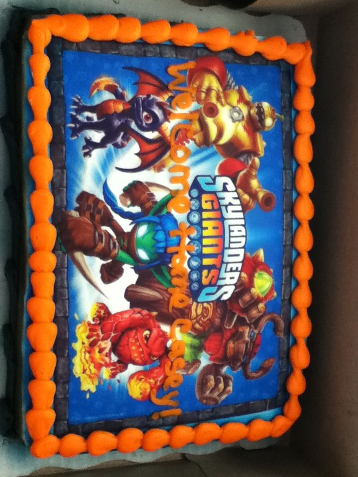 My mom got this Skylanders cake for my brother from Walmart Food