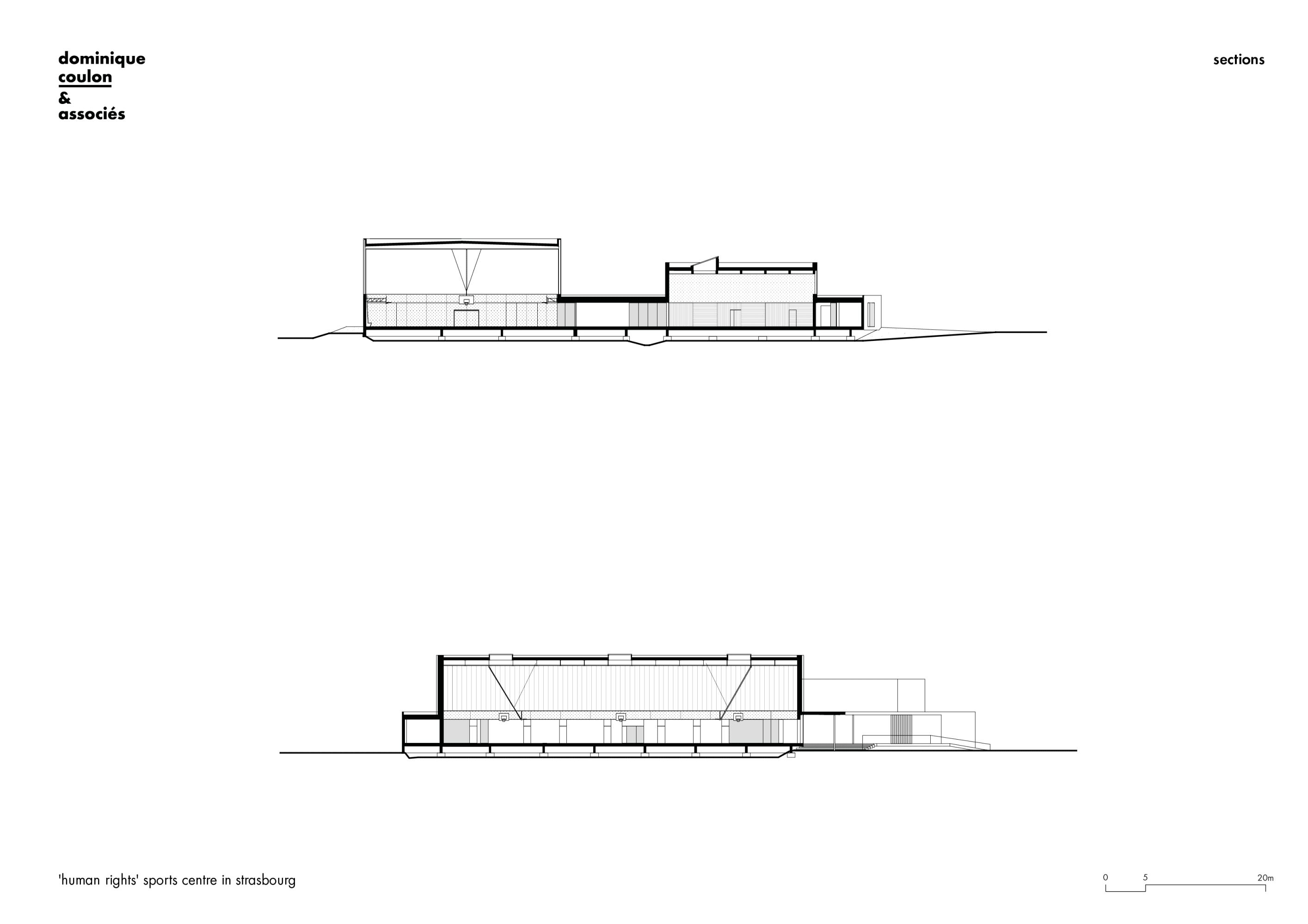 Dominique Coulon Associes Eugeni Pons David Romero Uzeda Human Rights Sports Centre In Strasbourg Divisare Strasbourg Sports Ground Floor Plan