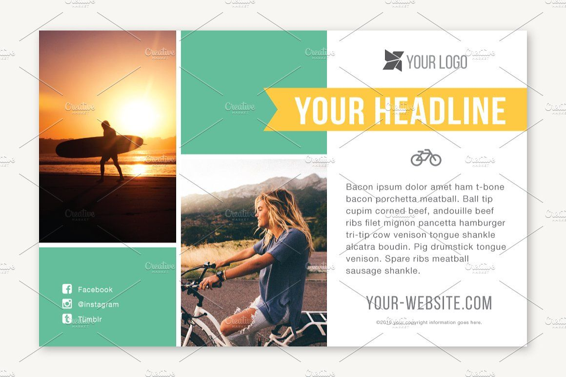 Four Half Page Flyer Templates Flyer Template Flyer Templates