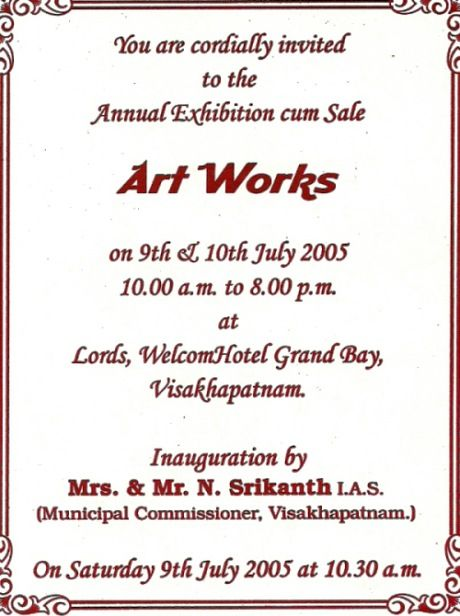 Art exhibition invites samples google search invitation ideas art exhibition invites samples google search stopboris Images