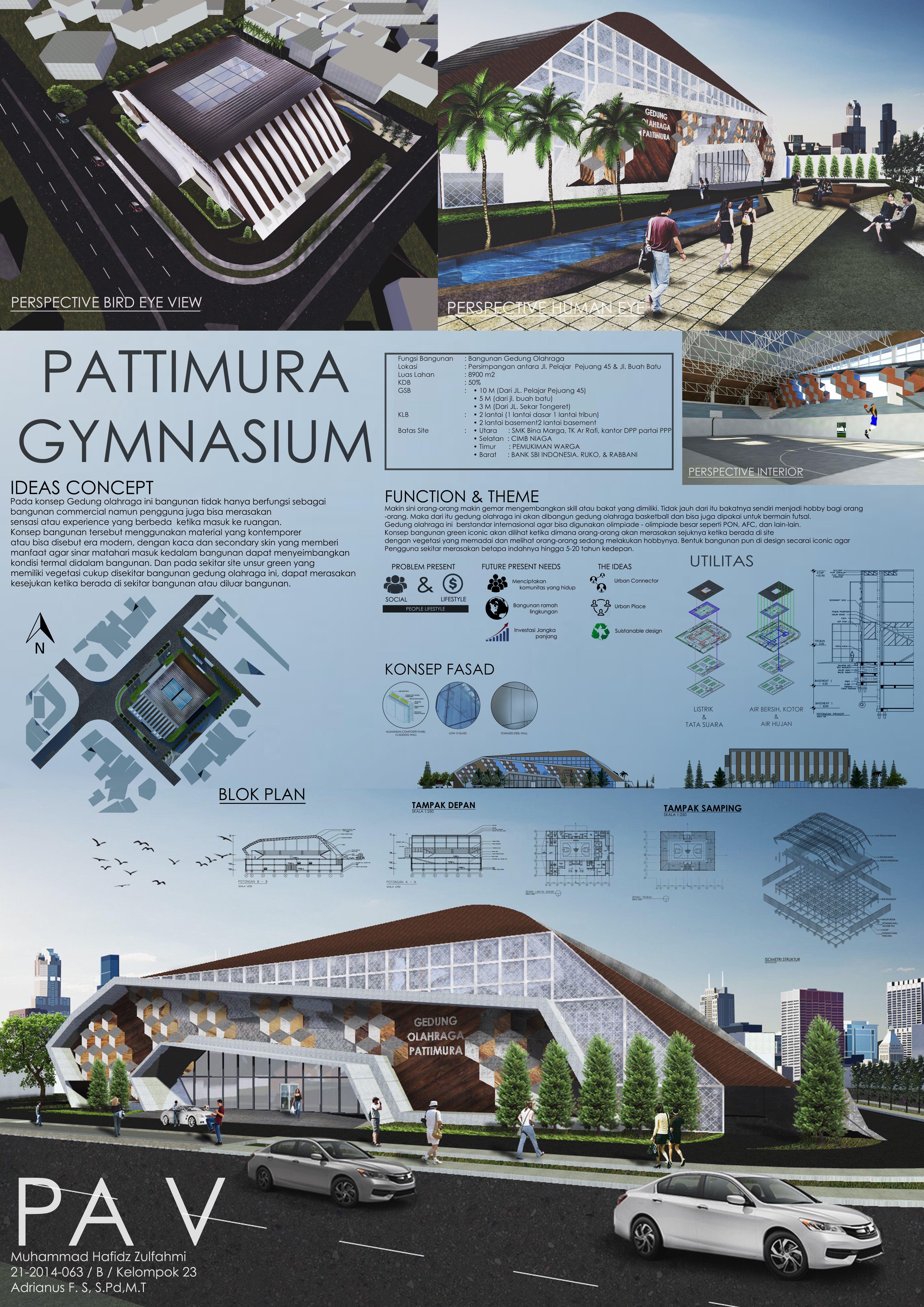 Arsitektur Modern Arsitektur Desain Arsitektur: My Portofolio Perancangan Arsitektur 5 Gymnasium Building