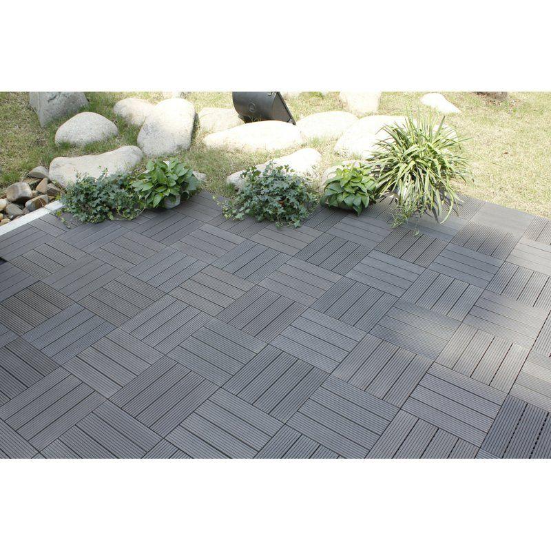 Naturesort Bamboo Composite Deck Tiles Grey Amp Reviews Wayfair Patio Flooring
