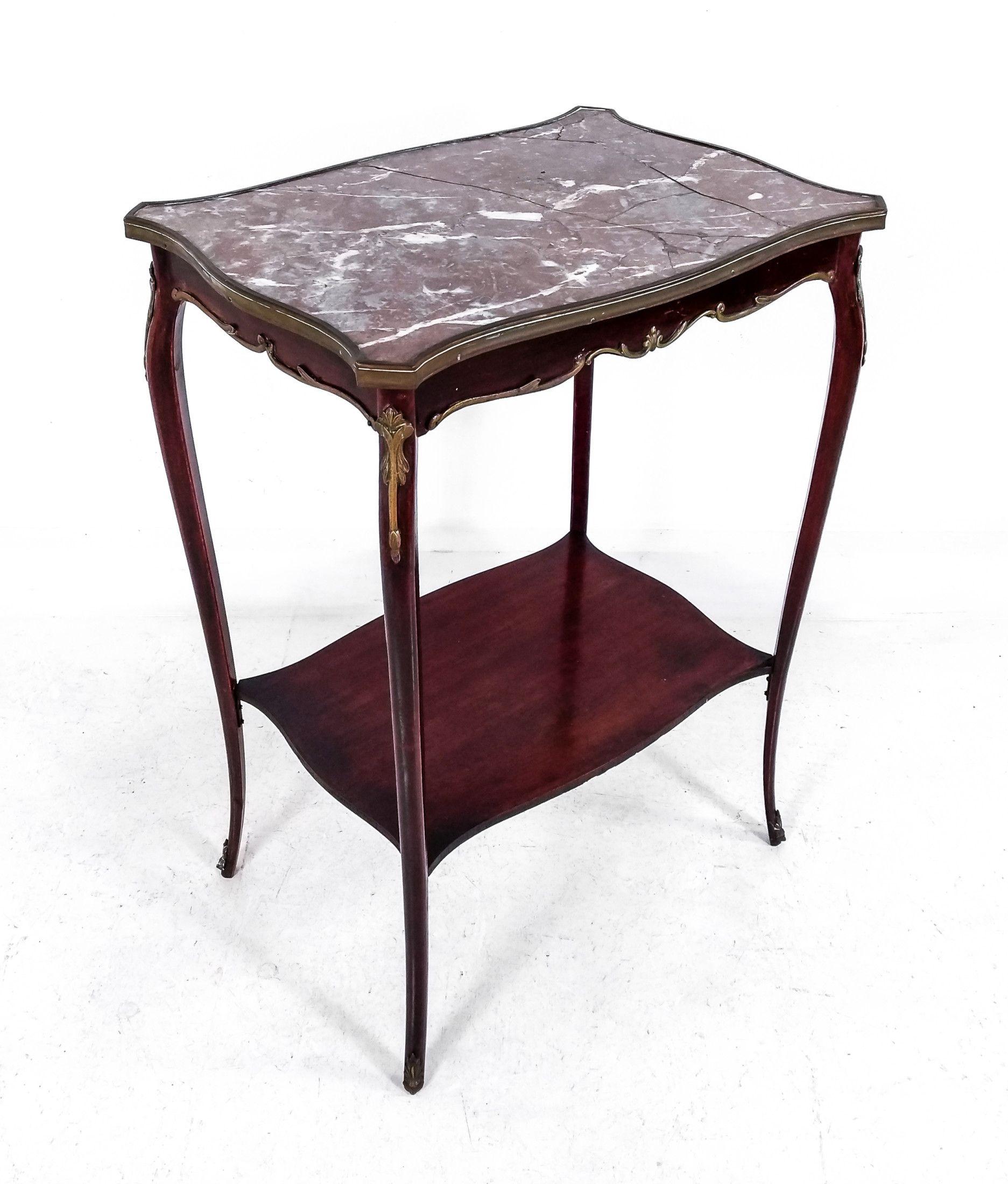 Tavolino inglese stile Napoleone III in legno di mogano ...