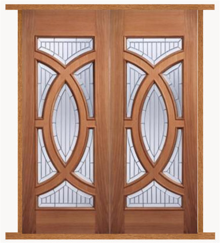 External Majestic Hardwood IG Zinc Double Entrance Door with Door ...