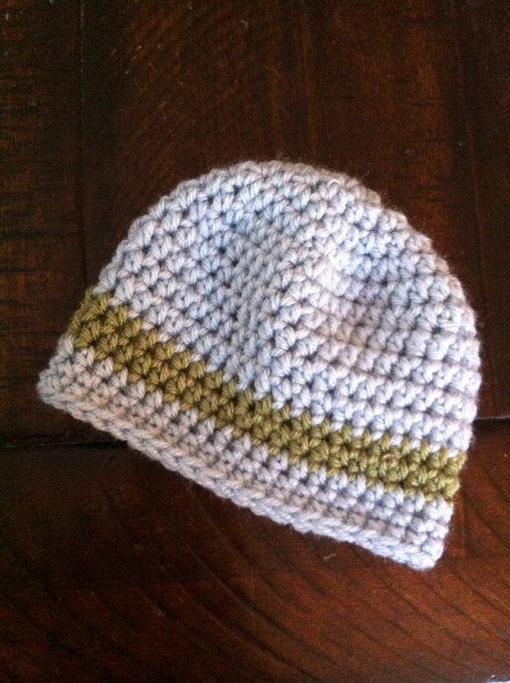Crocheted Baby Hat on Etsy, $10.00 | diy | Pinterest