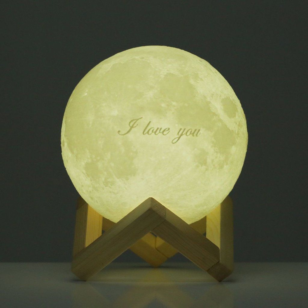 Tooarts Moon Lamp Valentine S Day Gift I Love You 3d Printed With Images Valentine Day Gifts