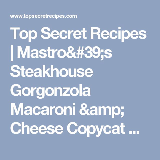2018 Schuhe kauf verkauf suche nach dem besten Mastro's Steakhouse Gorgonzola Macaroni & Cheese | recipes ...