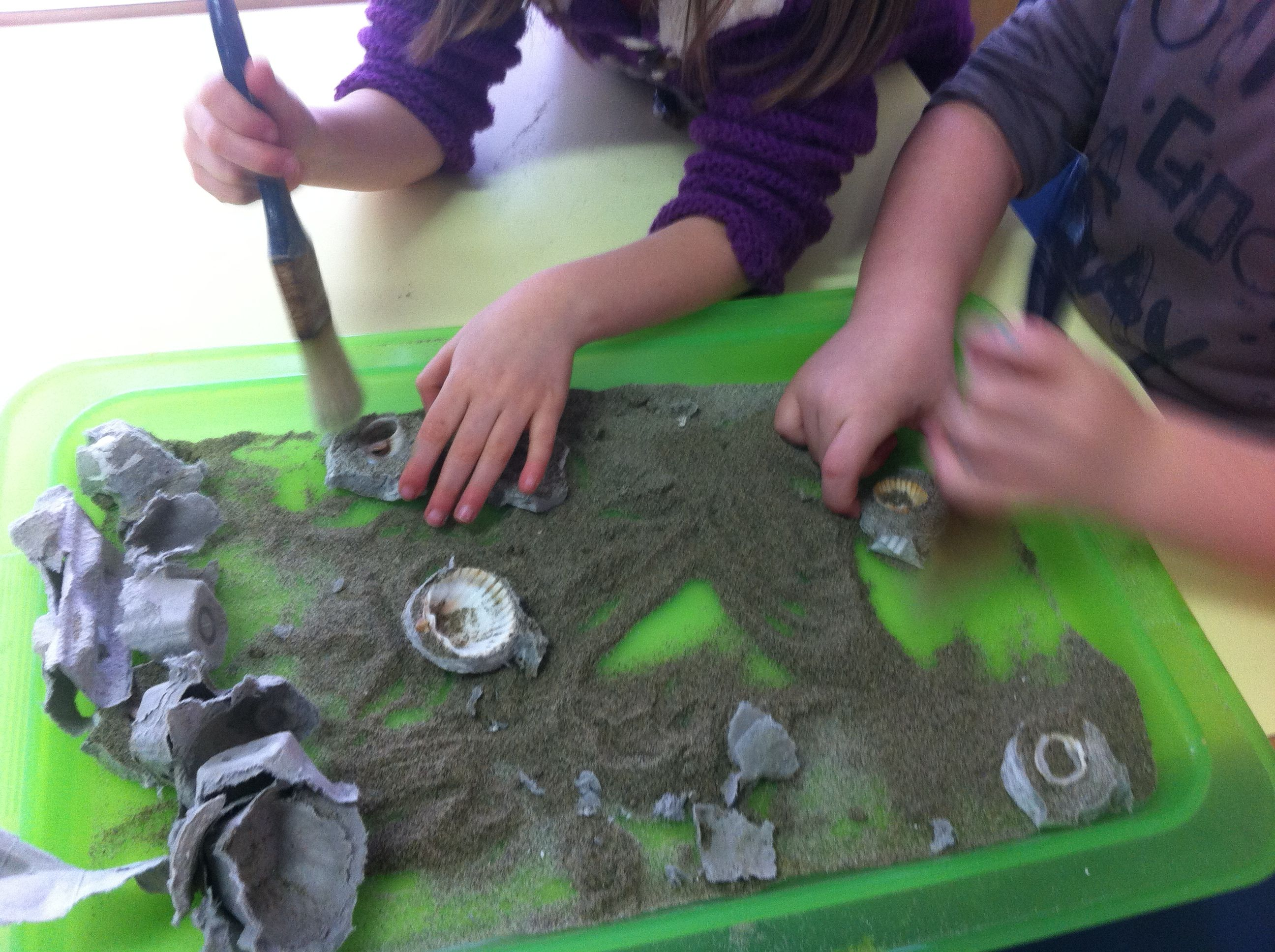 Togliamo la sabbia in eccesso :