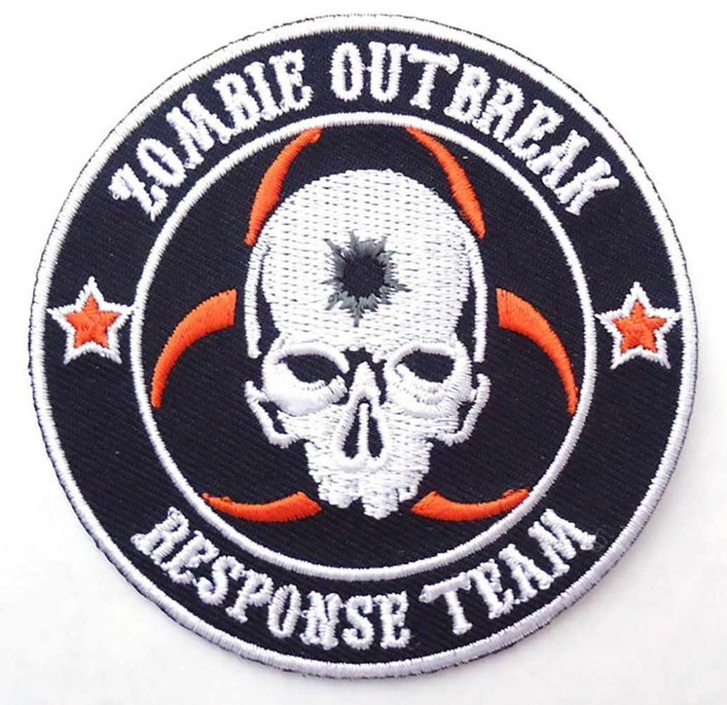 ZOMBIE HUNTER EMBROIDERED IRON ON  PATCH