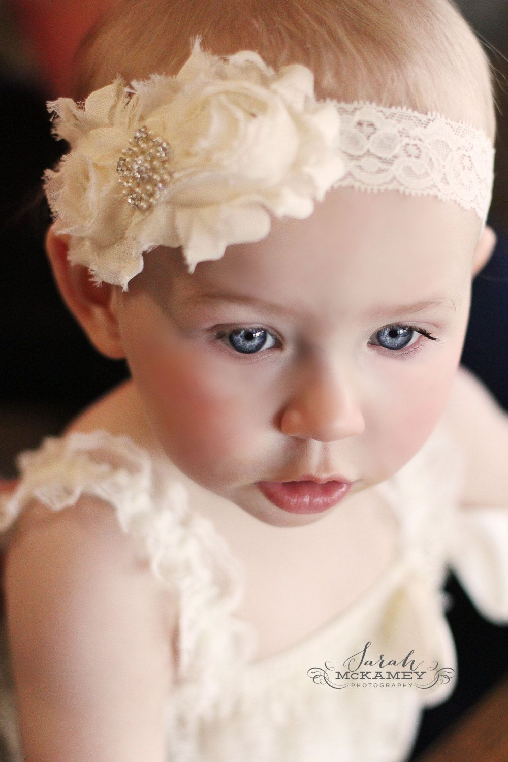 Baptism Headband.Christening by 3LoveliesBowtique on Etsy a5be0533e44