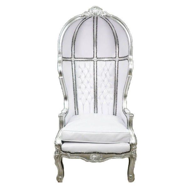 Large Grand Porteru0027s French Canopy White u0026 Silver Chair- Affordable ...  sc 1 st  Pinterest & Large Grand Porteru0027s French Canopy White u0026 Silver Chair ...