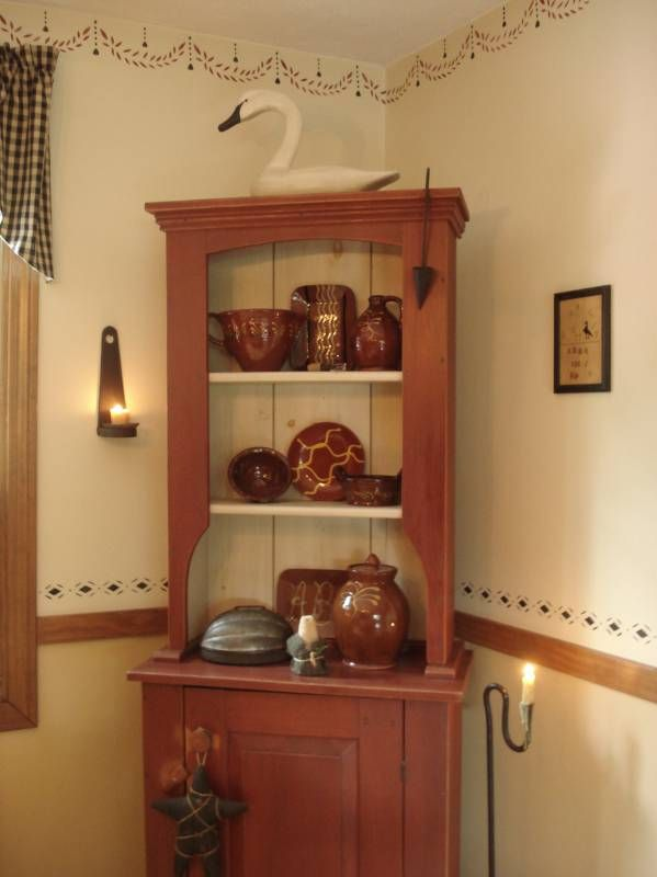 Corner Cupboard A Primitive Place Colonial Inspired Dining Rooms