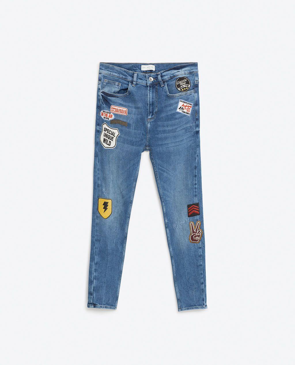 Access Denied Patched Jeans Jeans Kids Women Jeans