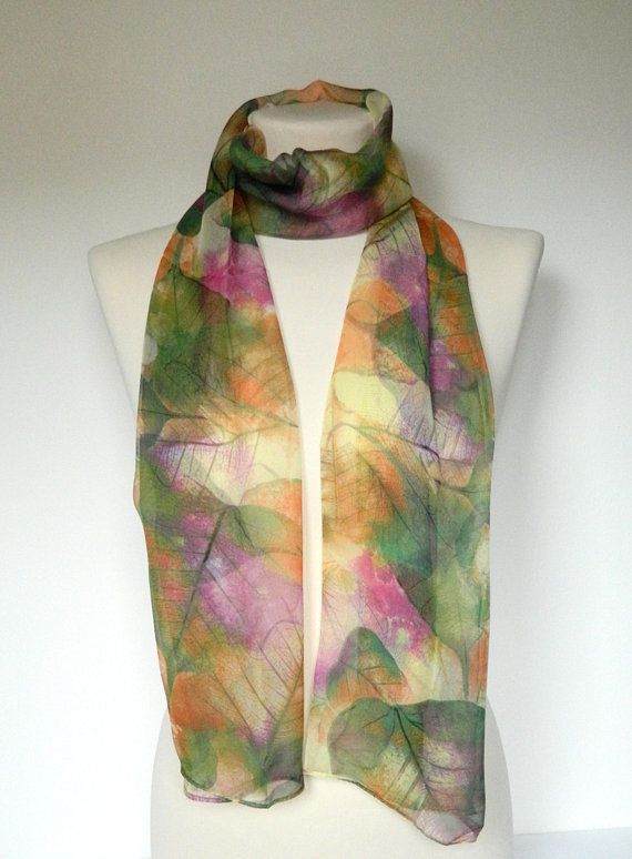 Silk Square Scarf - autumn leaves muted by VIDA VIDA S7W6DITD5