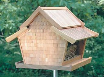 Log Cabin Birdhouse Pattern | Beautuful And Free Bird Feeder Plans