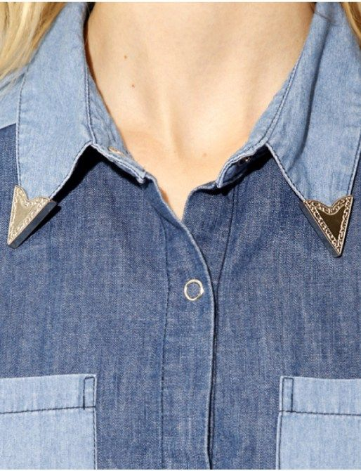 Western- Style Attachable Collar Tips To Add Some Style To Any Button- Down