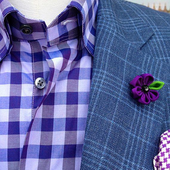 6f9924fcad197 mens lapel flower // mens boutonniere // wedding lapel pin // unique lapel  flower // sugar plum via Etsy