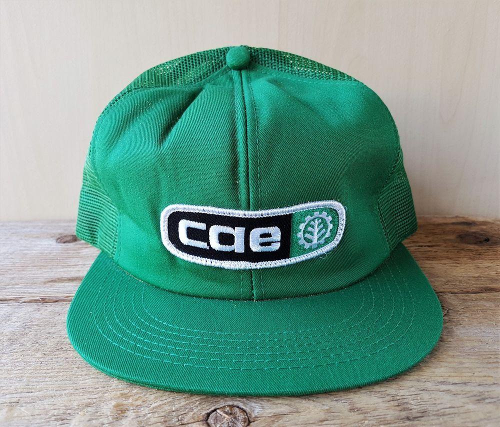 9f04634c20a Vtg 80s CAE Farm Equipment Green Mesh Trucker Hat Snapback Baseball Cap K  Brand  KBrand  BaseballCap