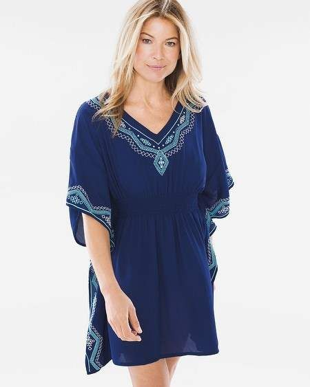 ae46a7e501 Fancy Stitch Swim Cover-Up Caftan | Products | Swim cover, Cover up ...