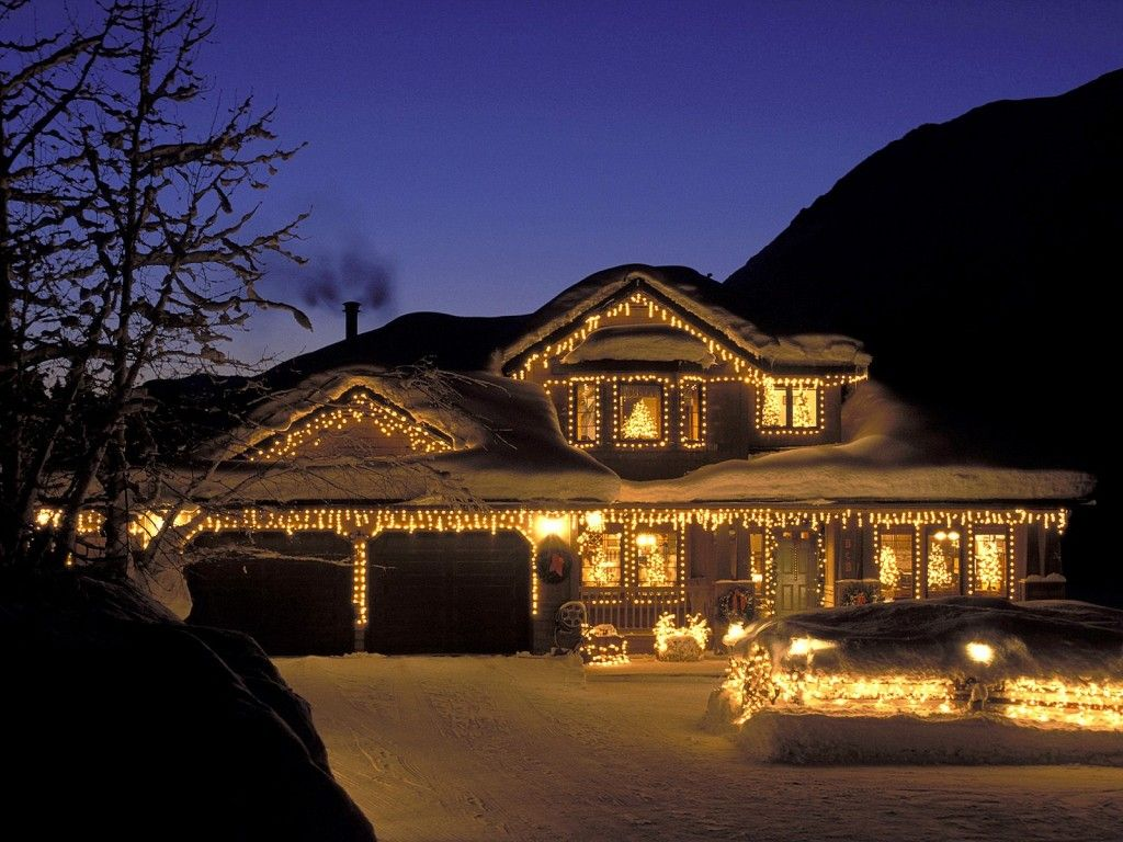 christmas house lighting ideas. Decoration, Christmas House Lights: Effective Small Holiday Lamps For Outside Decoration Ideas Lighting